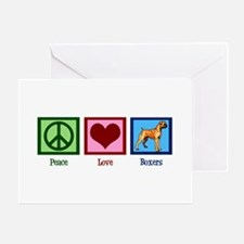 Peace Love Boxers Greeting Card