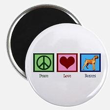 Peace Love Boxers Magnet