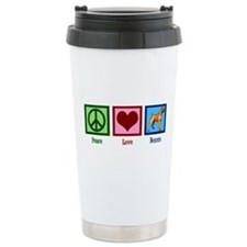 Peace Love Boxers Travel Mug