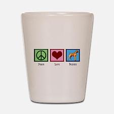 Peace Love Boxers Shot Glass