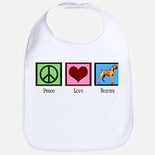 Peace Love Boxers Bib