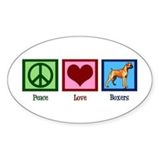Peace Love Boxers Decal
