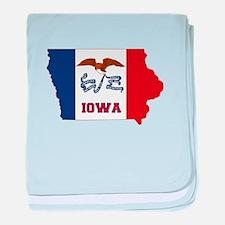 Iowa Flag baby blanket