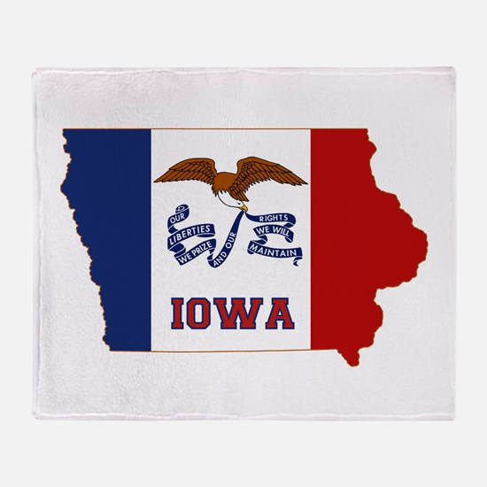 Iowa Flag Throw Blanket
