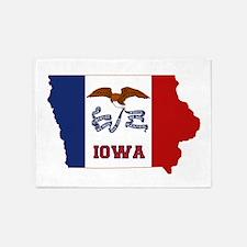 Iowa Flag 5'x7'Area Rug