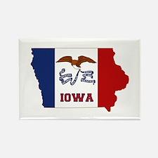 Iowa Flag Rectangle Magnet