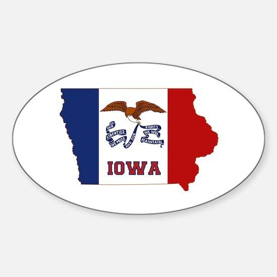 Iowa Flag Sticker (Oval)