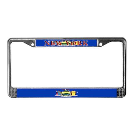 New York State Flag License Plate Frame