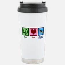 Peace Love German Shepherds Travel Mug