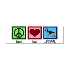 Peace Love German Shepherds Car Magnet 10 x 3