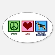 Peace Love German Shepherds Decal