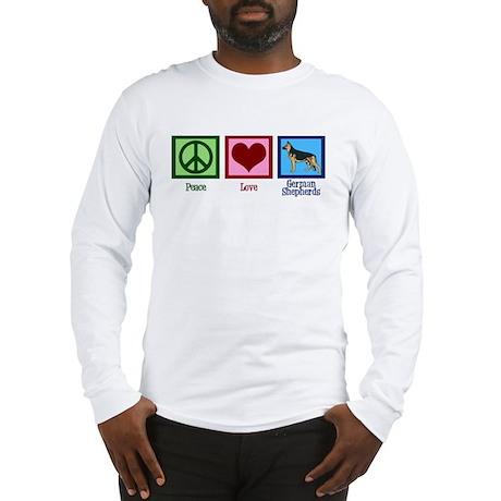 Peace Love German Shepherds Long Sleeve T-Shirt