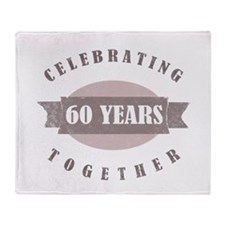Vintage 60th Anniversary Throw Blanket