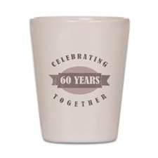 Vintage 60th Anniversary Shot Glass
