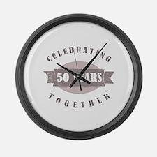 Vintage 50th Anniversary Large Wall Clock