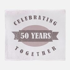 Vintage 50th Anniversary Throw Blanket