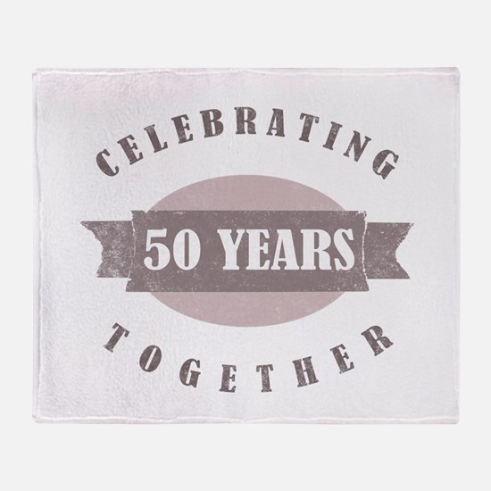 Vintage 50th Anniversary Throw Blanket