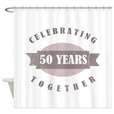 Vintage 50th Anniversary Shower Curtain