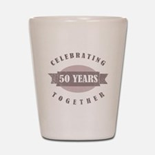 Vintage 50th Anniversary Shot Glass