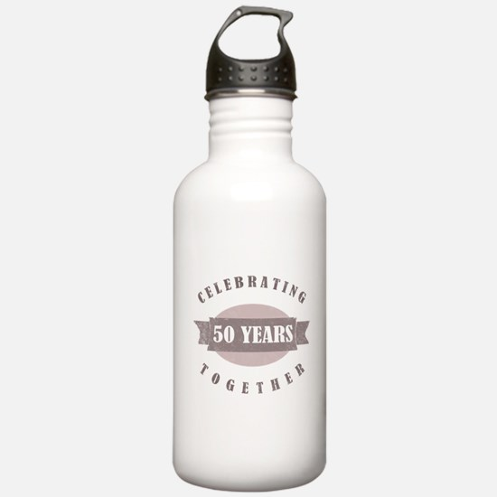 Vintage 50th Anniversary Water Bottle