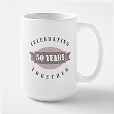 Vintage 50th Anniversary Large Mug