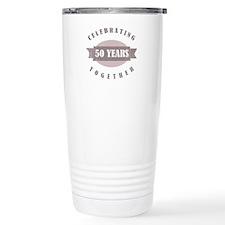 Vintage 50th Anniversary Travel Mug