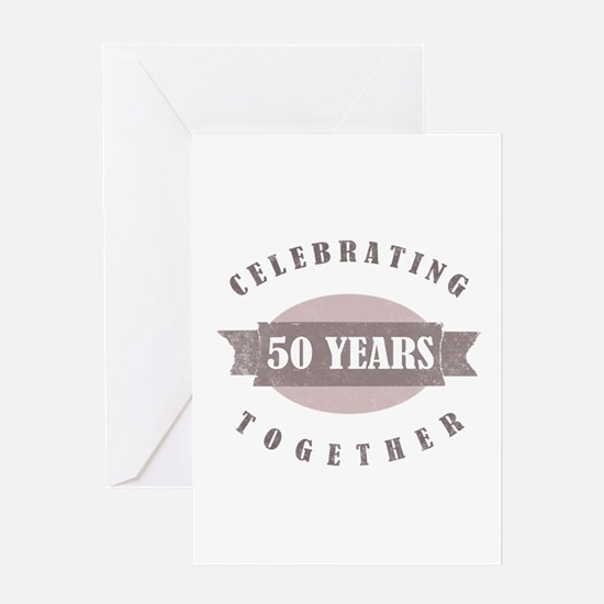 Vintage 50th Anniversary Greeting Card