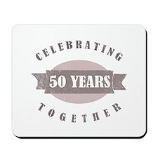 Vintage 50th Anniversary Mousepad
