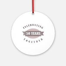 Vintage 50th Anniversary Ornament (Round)