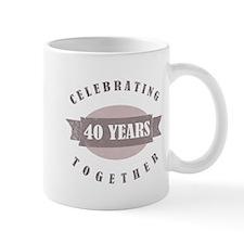 Vintage 40th Anniversary Mug