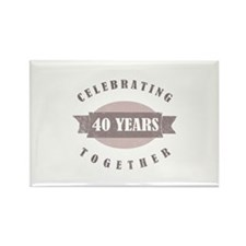 Vintage 40th Anniversary Rectangle Magnet