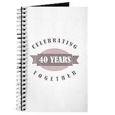 Vintage 40th Anniversary Journal