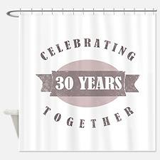 Vintage 30th Anniversary Shower Curtain