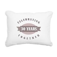Vintage 30th Anniversary Rectangular Canvas Pillow