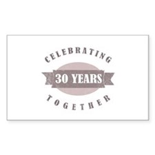 Vintage 30th Anniversary Decal