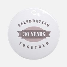 Vintage 30th Anniversary Ornament (Round)