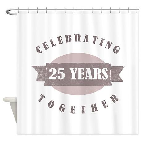 Vintage 25th Anniversary Shower Curtain