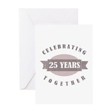 Vintage 25th Anniversary Greeting Card