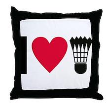 I love badminton Throw Pillow