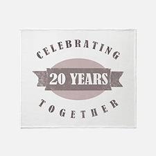 Vintage 20th Anniversary Throw Blanket
