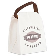 Vintage 20th Anniversary Canvas Lunch Bag