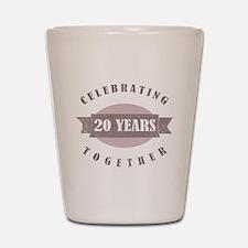 Vintage 20th Anniversary Shot Glass