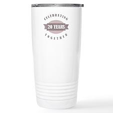 Vintage 20th Anniversary Ceramic Travel Mug