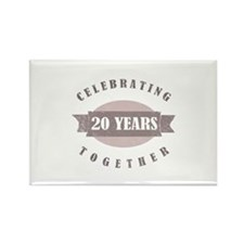 Vintage 20th Anniversary Rectangle Magnet