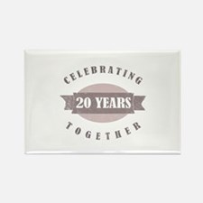 Vintage 20th Anniversary Rectangle Magnet (100 pac