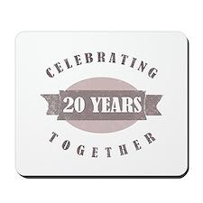 Vintage 20th Anniversary Mousepad