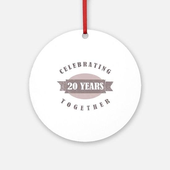 Vintage 20th Anniversary Ornament (Round)