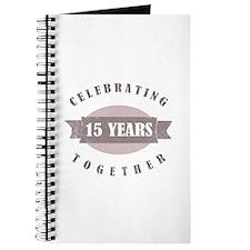 Vintage 15th Anniversary Journal