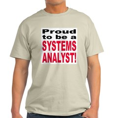 Proud Systems Analyst Ash Grey T-Shirt
