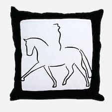 Dressurpferd Throw Pillow